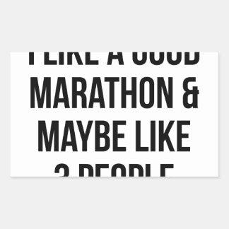 Marathon & 3 People Sticker