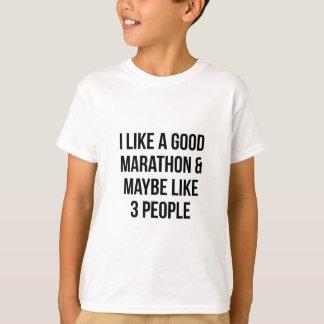 Marathon & 3 People T-Shirt