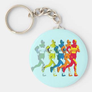 marathon basic round button keychain