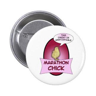 Marathon Chick 2 Inch Round Button