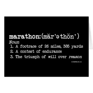 Marathon Definition Card