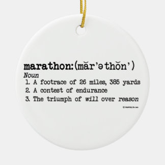Marathon Definition Round Ceramic Ornament