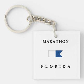 Marathon Florida Alpha Dive Flag Acrylic Keychains