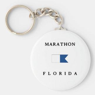 Marathon Florida Alpha Dive Flag Keychains