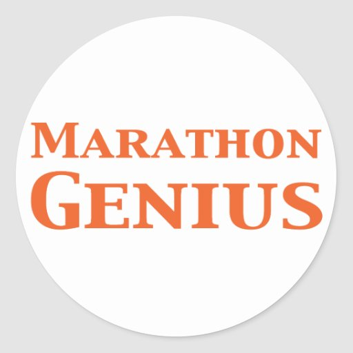 Marathon Genius Gifts Sticker