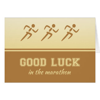 Marathon good luck for sportsman greeting card