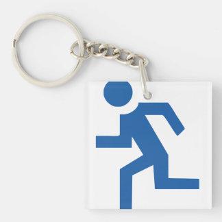 marathon acrylic key chain