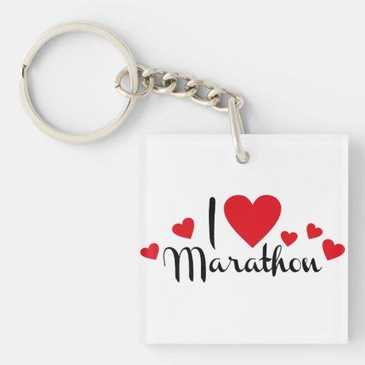 Marathon Acrylic Keychains