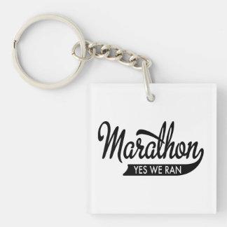 Marathon Single-Sided Square Acrylic Keychain