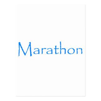 Marathon Postcard