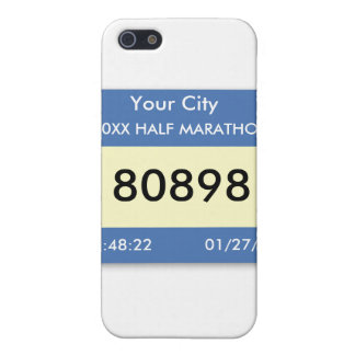 Marathon Race Bib on a Case Cover For iPhone 5/5S