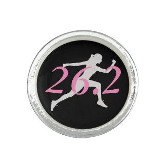 Marathon Ring, Gift For Runner, 26.2 Photo Ring