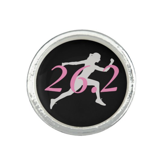 Marathon Ring, Gift For Runner, 26.2 Photo Ring