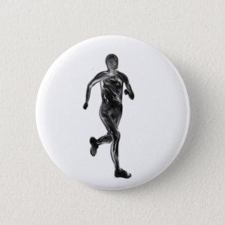 Marathon Runner 2 Inch Round Button