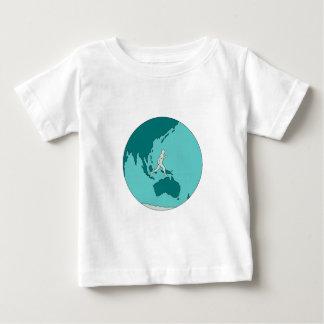 Marathon Runner Around World Drawing Baby T-Shirt