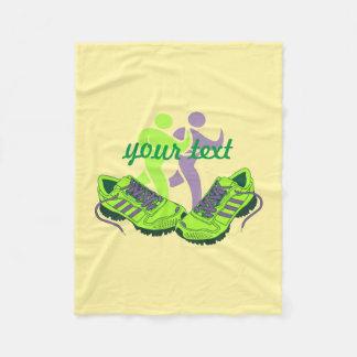 Marathon Runner Custom Fleece Blanket