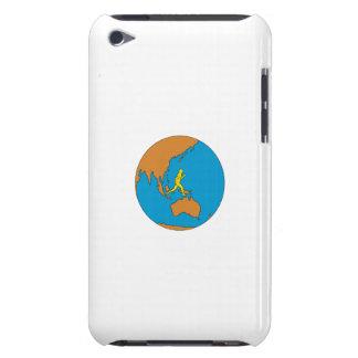 Marathon Runner Running Around World Asia Pacific Barely There iPod Case