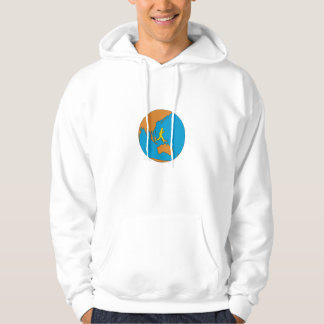 Marathon Runner Running Around World Asia Pacific Hoodie