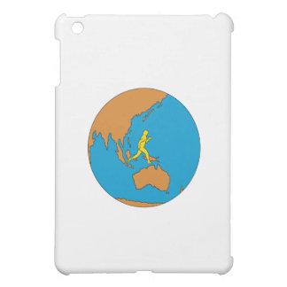 Marathon Runner Running Around World Asia Pacific iPad Mini Covers