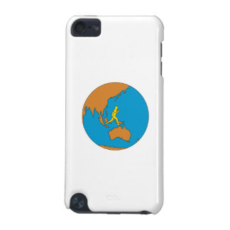 Marathon Runner Running Around World Asia Pacific iPod Touch 5G Covers