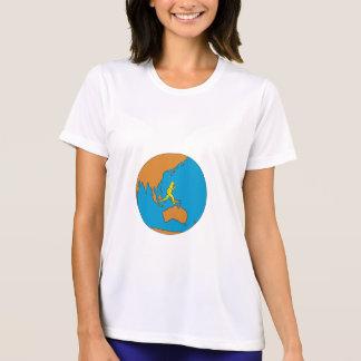 Marathon Runner Running Around World Asia Pacific T-Shirt
