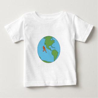 Marathon Runner Running North and South America Dr Baby T-Shirt