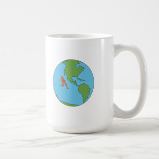 Marathon Runner Running North and South America Dr Coffee Mug
