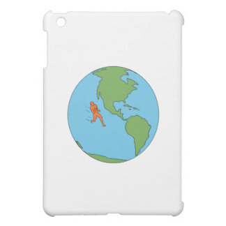 Marathon Runner Running North and South America Dr Cover For The iPad Mini