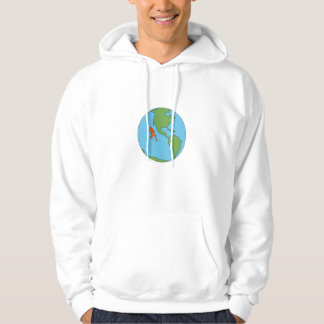 Marathon Runner Running North and South America Dr Hoodie