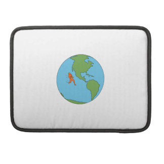 Marathon Runner Running North and South America Dr Sleeve For MacBooks