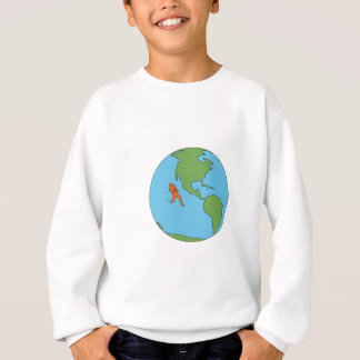 Marathon Runner Running North and South America Dr Sweatshirt