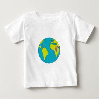 Marathon Runner Running South America Africa Drawi Baby T-Shirt