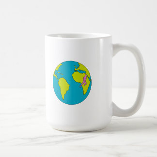 Marathon Runner Running South America Africa Drawi Coffee Mug
