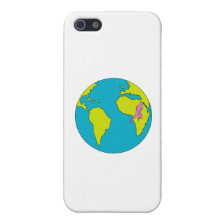 Marathon Runner Running South America Africa Drawi iPhone 5/5S Case