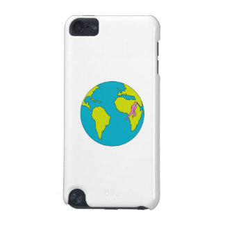 Marathon Runner Running South America Africa Drawi iPod Touch 5G Cases