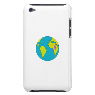 Marathon Runner Running South America Africa Drawi iPod Touch Cover