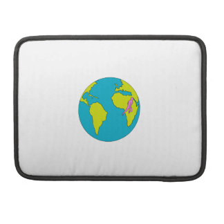 Marathon Runner Running South America Africa Drawi MacBook Pro Sleeve