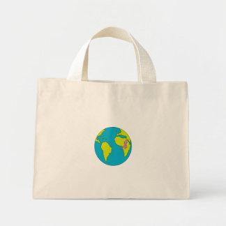Marathon Runner Running South America Africa Drawi Mini Tote Bag