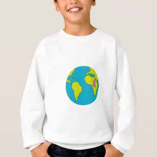 Marathon Runner Running South America Africa Drawi Sweatshirt