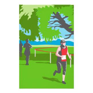 Marathon Runner Running WPA Stationery