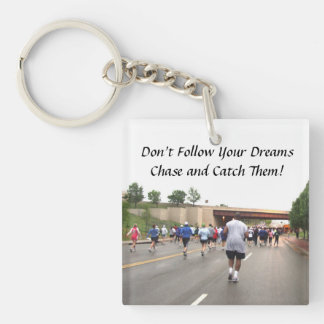 Marathon Running Key Chain