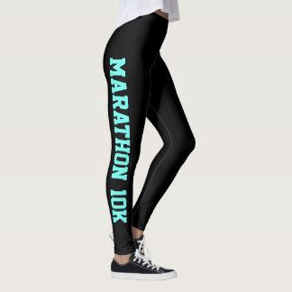 Marathon Running Leggings YOU CHANGE Text & Color