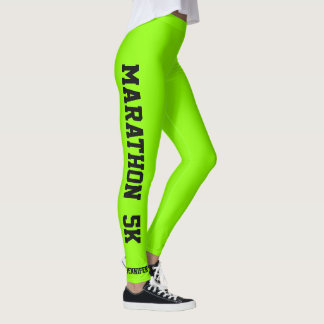 Marathon Running Leggings YOU CHANGE Text & Color