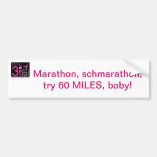 Marathon Schmarathon bumper sticker Car Bumper Sticker