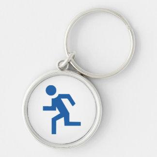 marathon Silver-Colored round keychain