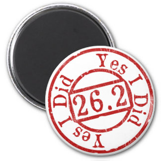 Marathon Stamp of Approval 2 Inch Round Magnet
