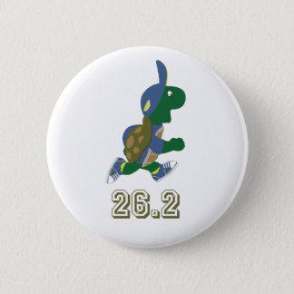 Marathon Turtle Runner in Blue 2 Inch Round Button