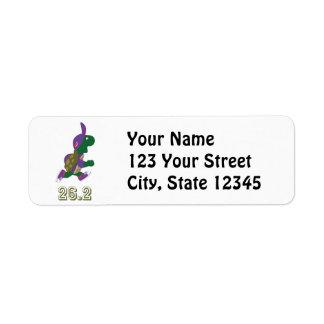 Marathon Turtle Runner in Purple Return Address Label