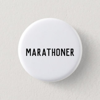 Marathoner button badge