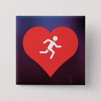 Marathons Pictogram 2 Inch Square Button